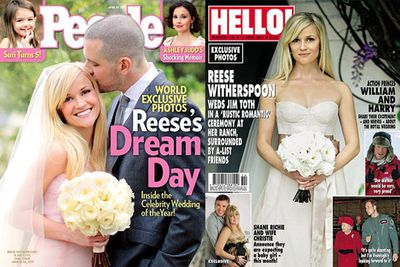 The <i>Legally Blonde </i>star got hitched to talent agent<b> Jim Toth</b> on March 26. Among those at the wedding were Witherspoon's two kids from her previous marriage to Ryan Phillippe.