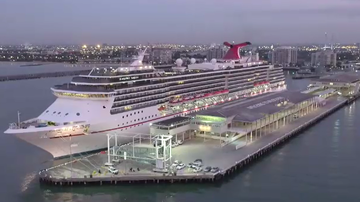 Massive ocean liner now calls Melbourne home port