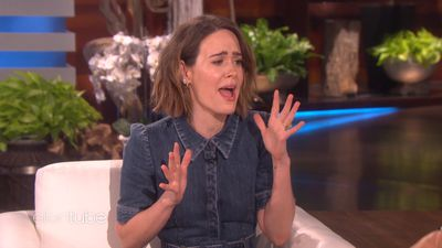 Ellen DeGeneres hires a literal clown to scare the hell out of Sarah Paulson