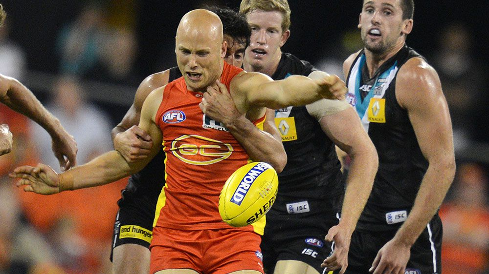 Suns skipper Gary Ablett in action. (Getty-file)