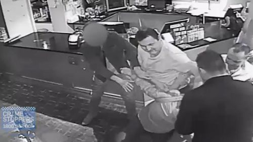 The violent brawl lasted for approximately 90 seconds inside the pub. (Supplied)
