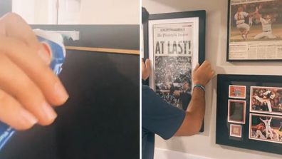 Woman shares genius tip for hanging frames right every time