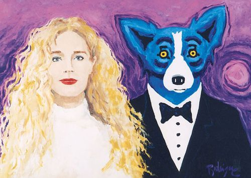 """The stolen painting """"Wendy and Me"""" by George Rodrigue. (Supplied)"""
