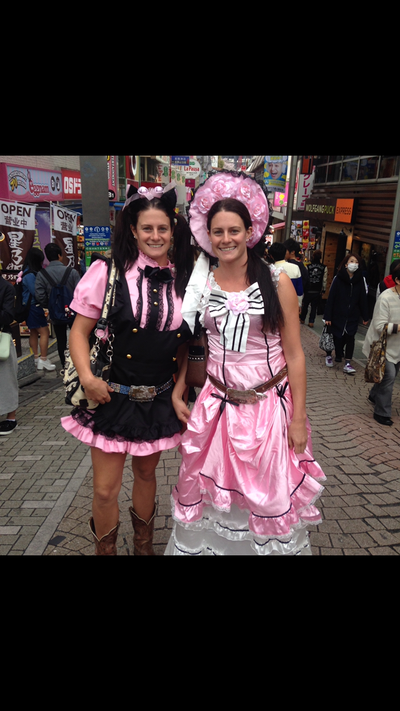 Our Cowgirls got right into the Harajuku spirit.