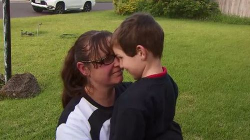"Mrs Barlow said she was ""very very lucky"" to have Raith safely back in her arms. (9NEWS)"