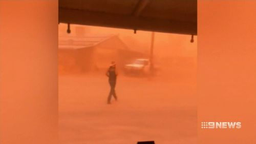 Areas of the NSW Riverina have already been clouded in a thick cloud of dust.
