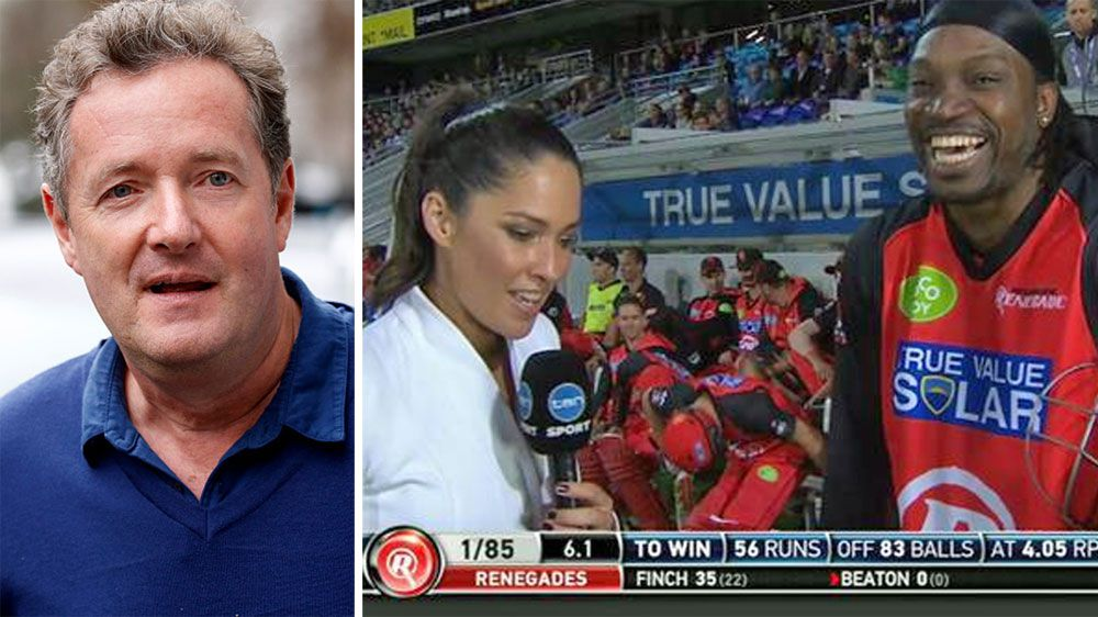Piers Morgan (L) has slammed the backlash to Chris Gayle's comments. (Supplied)