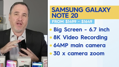 Some features of the Galaxy Note 20.