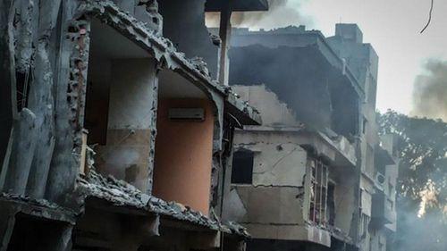 The airstrikes destroyed ISIL-held buildings in Derna, in eastern Libya. (Getty)