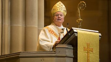 The Catholic Archbishop of Sydney, Most Rev. Anthony Fisher O.P. delivers his homily at the Christmas service at St Mary's Cathedral in Sydney
