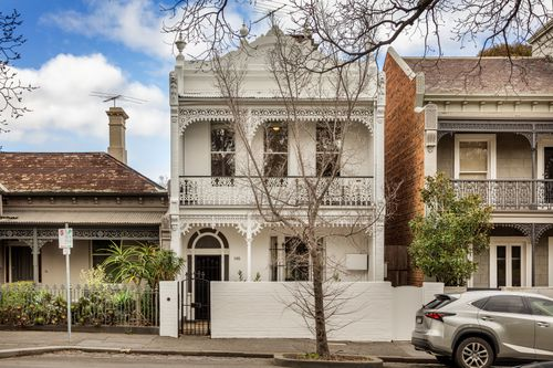 The four-bedroom terrace house at 146 Gatehouse Street, in Melbourne's Parkville sold at auction for $2,870,000.