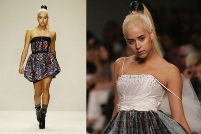 In September 2007 Peaches made her catwalk modeling debut for PPQ at London Fashion Week.<br/><br/>(Source: Getty)