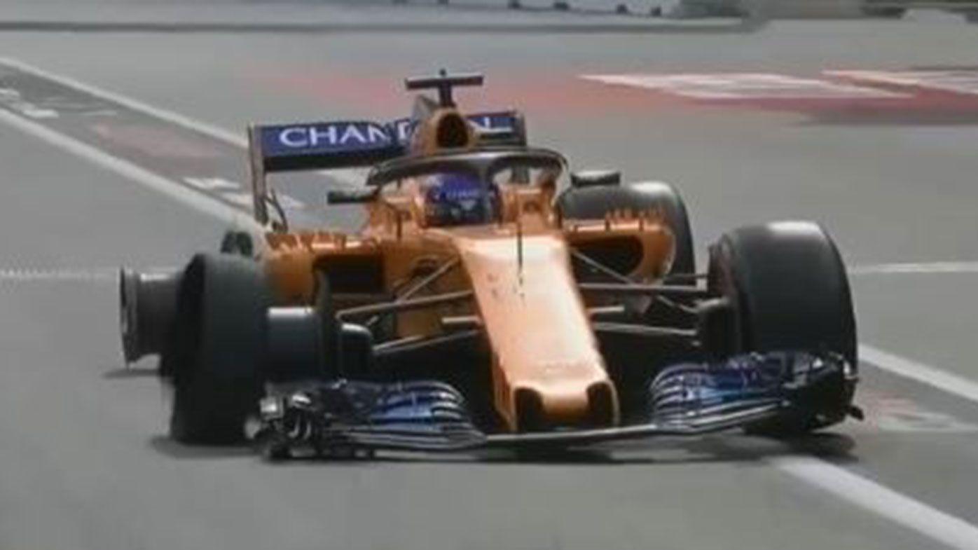 Former Formula One world champion Fernando Alonso's great escape at Azerbaijan Grand Prix
