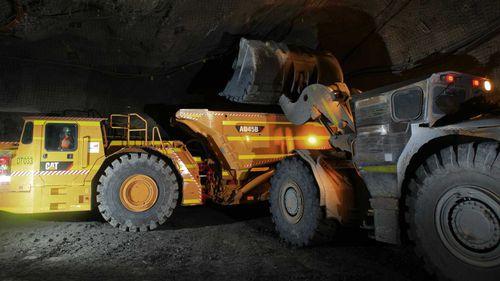 Inside the nickel mine in Leinster, WA. (AAP)