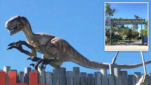 Search underway after dinosaur goes missing from Moreton Bay vet clinic