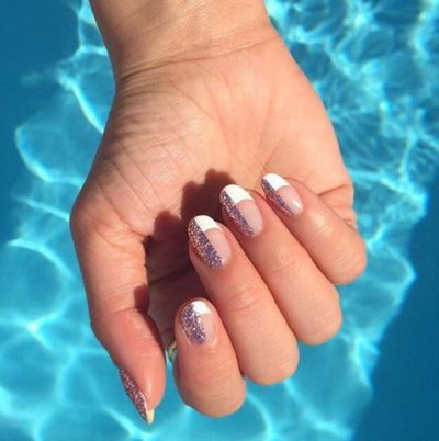 The perfect sparkly nail look for those who don't want to go all the way.