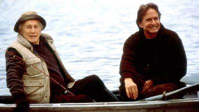 <p>Michael and Kirk Douglas</p>