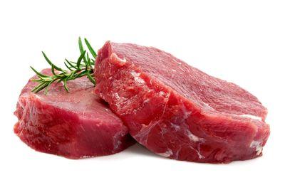 Lean beef: 267mg per 100g