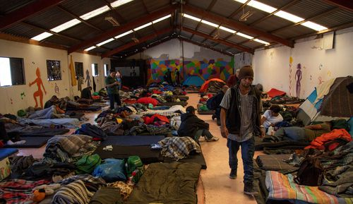 Members of the migrant caravan remain at the El Barretal shelter in Tijuana, Mexico, 08 December 2018.