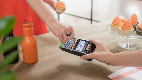 Bankwest's 'Halo smart ring', which can be bought for $39, puts a person's personal banking details on their finger (Supplied).