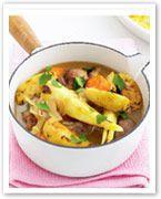 Pork and apple stew with potato bake