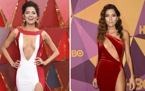 She's at it again: Blanca Blanco flashes flesh on red carpet