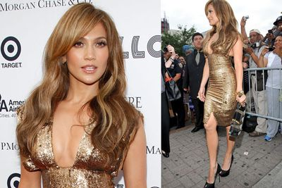 Golden goddess in June, 2010 at an event in New York.