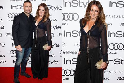 Sheer brilliance! Michelle Bridges steps out with her buff beau Commando.