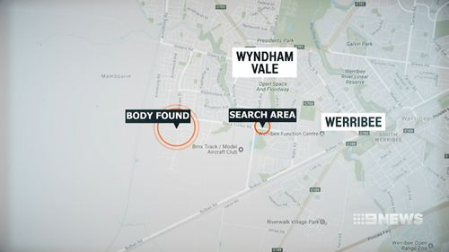 The area where police are hunting for the murder weapon is just two kilometres from the Willis' home. Picture: 9NEWS