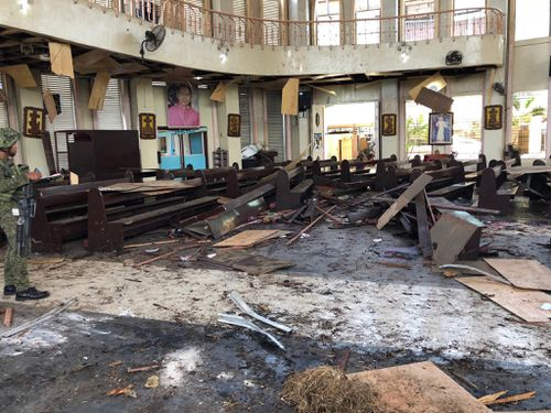 Jolo's Our Lady of Mount Carmel cathedral was bombed on Sunday.