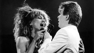 Singing with Tina Turner on 'Tonight' at the NEC Birmingham in 1985. (Getty)