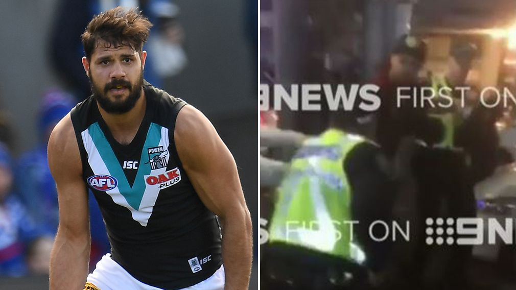 Damning footage emerges of Port Adelaide's Paddy Ryder's alleged brawl with police