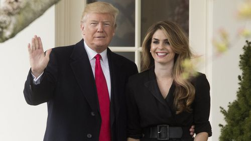 Hope Hicks was one of Donald Trump's closest aides.