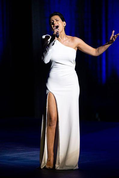 Diana Rouvas singing on The Voice