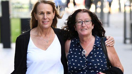 Pamela McLaren and Pauline Sidon, sisters of manslaughter victim Linda Sidon, who was killed by her son Daniel Paul Heazlewood