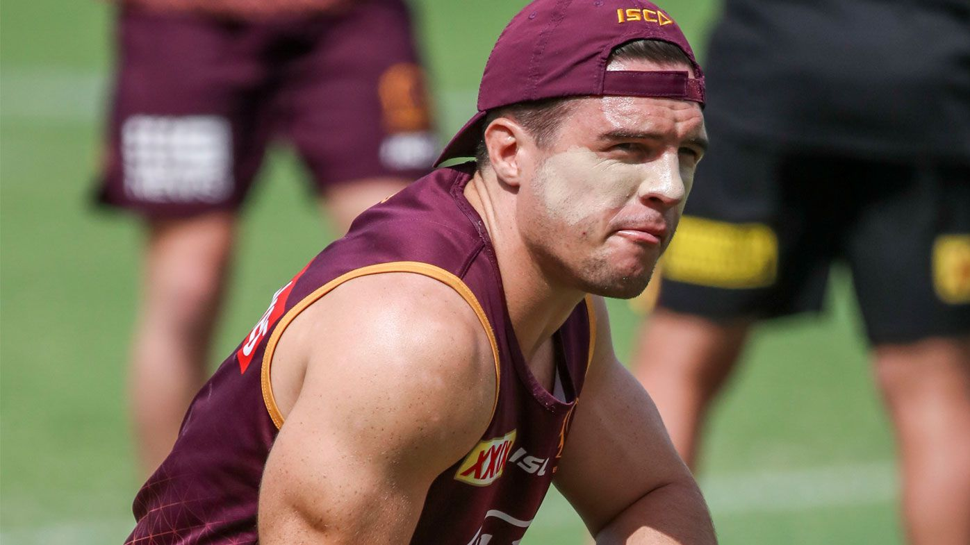 Brisbane Broncos player Brodie Croft in action during a team training session