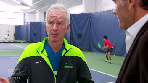 The legend hopes to inspire the next generation of tennis stars.