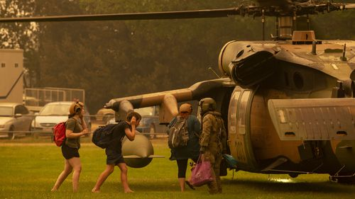 ADF evacuated residents in Victoria