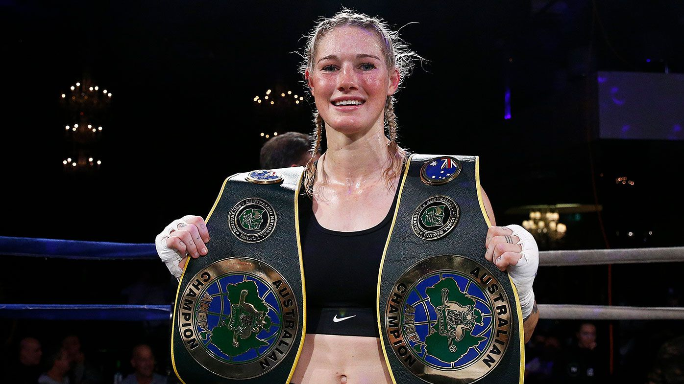 Tayla Harris continues to dominate in the boxing ring