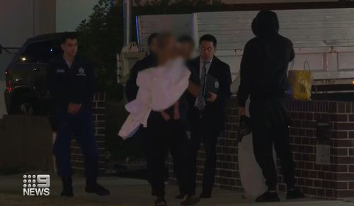 There were four people inside the Sydney property at the time of the shooting, including the toddler.