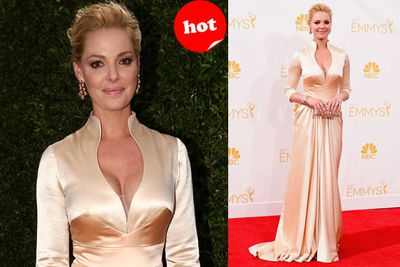 Katherine Hiegl nails classic Emmys elegance.