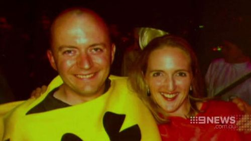 Mr Smith paid tribute to his wife in a service at the Great Hall today. (9NEWS)