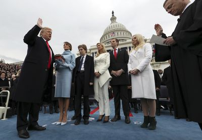 Donald Trump sworn in as 45th US president.