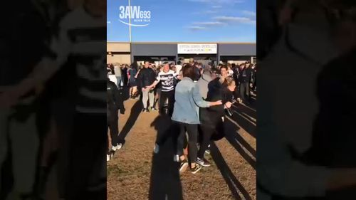 It's believed an umpire was struck in the brawl. (3AW)