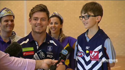 Heath will get to train with the side and run out with them. (9NEWS)