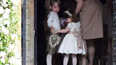Prince George and Princess Charlotte, St. Mark's Church, Berkshire, May 2017