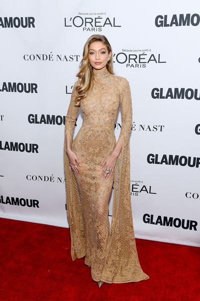 "<p>Gigi Hadid dressed for the occasion at the Glamour Women of the Year event alongside fellow honorees Nicole Kidman and Samantha Bee.</p> <p>The nude-look Zuhair Murad dress clung to the supermodel's frame, delivering sophisticated sensuality while covering more than it seemed to reveal.</p> <p>Sister Bella Hadid and Yolanda Foster were on hand to celebrate Gigi's cover. In the special issue Gigi speaks out about the price of fame.&nbsp;</p> <p>""I believe that a lot of judgmental comments come from people not really having compassion for those they see as public figures,"" Gigi tells <a href=""https://www.glamour.com/inspired/women-of-the-year"" target=""_blank"">Glamour</a>. ""It's frustrating to see people question my actions or integrity based off something as trivial as leaving my apartment building. I'm just doing my best as I move through life, sometimes dealing with relative hardships like everyone else.""</p> <p>While Gigi opted for a gown worthy of the Oscars, many guests embraced the move towards suits, including last year's honoree Ashley Graham.</p> <p>See the best looks here.</p> <p>&nbsp;</p>"