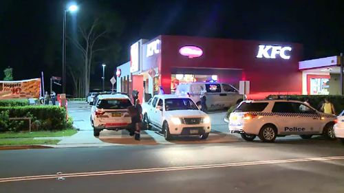 Police at the scene in St Clair. (9NEWS)