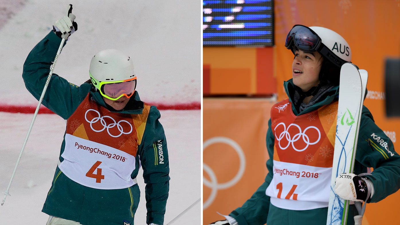 Medal heartbreak for Aussie duo Britt Cox and Jakara Anthony in women's mogul final