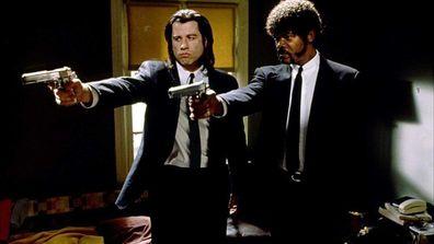 Samuel L. Jackson stars with John Travolta in the 1994 film Pulp Fiction.
